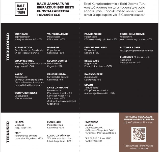 f9587d88579 EKA tudengi soodustused — Eesti Kunstiakadeemia