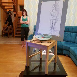 Helin Kuldkepp, 1. kursus. Joonistamine loomingulisel molbertil. 2020 kevad