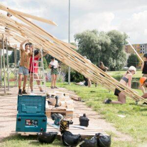 Paviljoni KOOS ehitamine Foto Markus Puidak