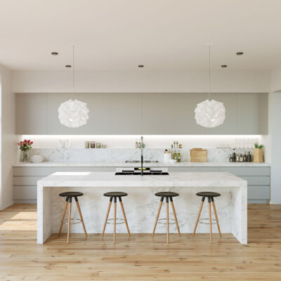 Grey-and-Marble-Kitchen-Light-Maple-Floors