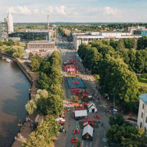 Tartu Südalinna kultuurikeskuse asukoha aerofoto Foto Maanus Kullamaa