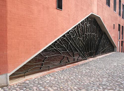 Narva Kolledži hoone väravad.