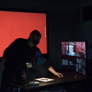 Kunstiprojekt2 hindamine. Õppejõud: Kristina Õllek. Foto:KullaLaas