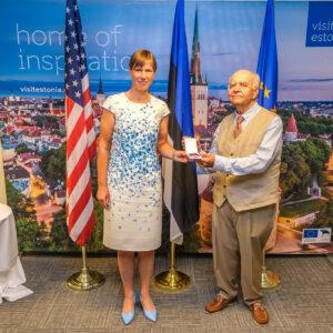 President Kersti Kaljulaid ja Jaan Holt