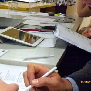 Lõputööde kaitsmise komisjon töötab. Mai 2012