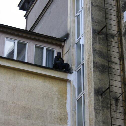 Batman by an unknown artist on the rooftop of Tallinn Art Hall