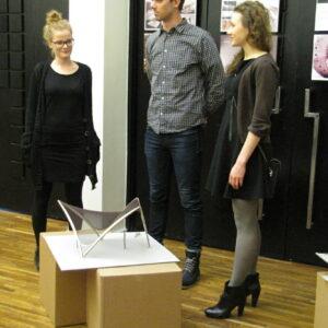 Mae Köömnemägi Ats Buddell Hanna_Liisa Mõtus tutvustavad oma tööd
