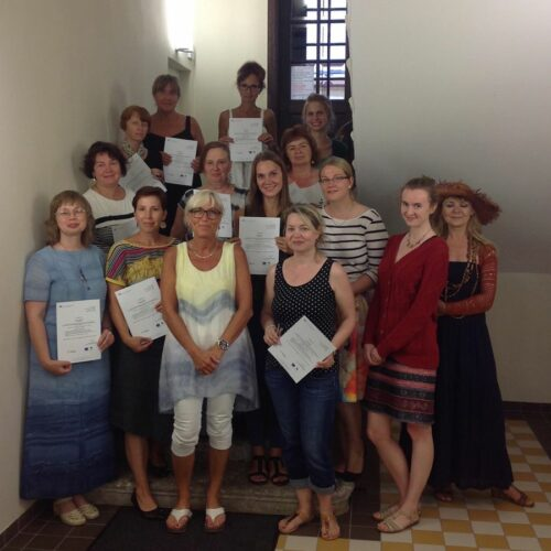EKA kunstiõpetajate suvekooli osalejad ja juhendajad