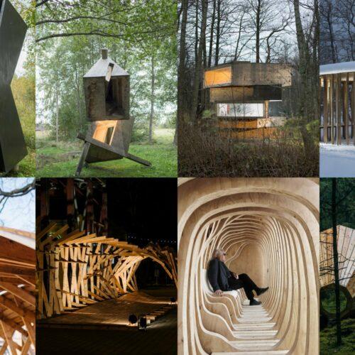 EKA arhitektuuriteaduskonna väikevormide näitus - pressipakk