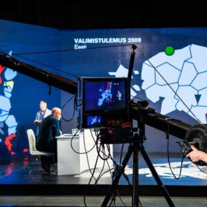 Eesti Televisiooni valimissaadete identiteet ning ekraanigraafika (Henno Luts, Mikk Jõgi, Erik Heinpalu. Juhendaja: Uku–Kristjan Küttis).