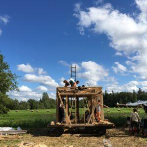 FLOODED 2017 summer school floating sauna