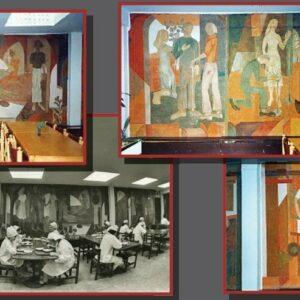 Kalevi vabriku söökla interjöör ja hävinud maalitsüklid