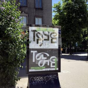 Lõputööna valminud TASE visuaalne identiteet, 2018. Autorid: Martina Gofman, Johanna Ruukholm, Nathan Tulve.