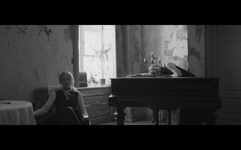 Still from the fashion video Reverie by Marleen Pärn