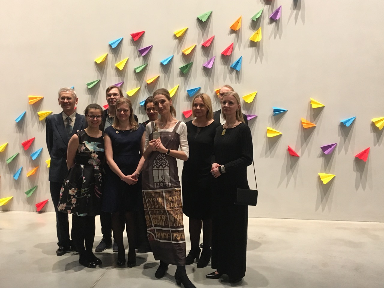 Representatives of the project participants – Art Museum of Estonia, Estonian Academy of Arts, University of Tartu and Estonian Environmental Research Centre – together with the Museum Rat award