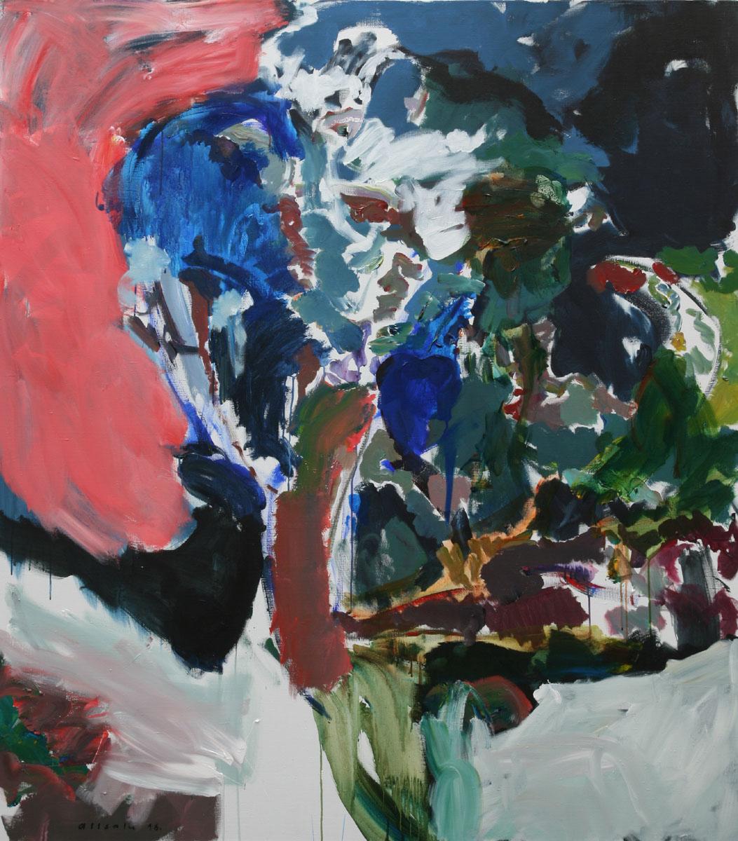 Spell. Vano Allsalu, acrylic on canvas, 180 × 160 cm, 2016)
