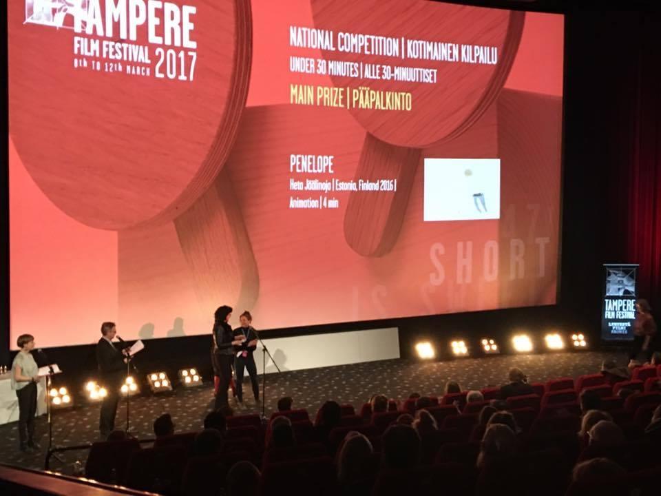 "Heta Jäälinoja's ""Penelope"" – the Grand Prix for a Finnish movie under 30 minutes at Tampere Film Festival!"